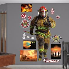 Fathead Action Firefighter Decal