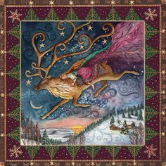 Yule Dawn Dreaming Card by Wendy Andrew