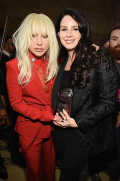 It happened!!! This is not photoshopped - Lana Del Rey and Lady Gaga were really together at Billboard's Women in Music 2015 event! #LDR  omgggggg
