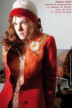 Feutre Art Textile: Portrait de Mariam Partskhaladze