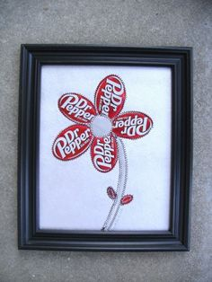 Soda  Can Art Dr Pepper Flower  Wall Art Collage Eco Funky and Unique | creationsbyingrid - Collage on ArtFire