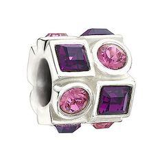 £45 Chamilia Circle & Square - Pink & Purple