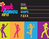 5x7 Disco Party Invitation