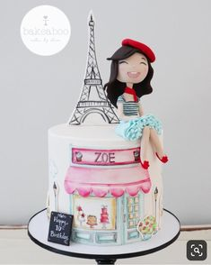 Paris Birthday Cakes, Paris Themed Cakes, Paris Themed Birthday Party, 13 Birthday Cake, Paris Cakes, Barbie Birthday, Paris Party, Teen Cakes, Girl Cakes