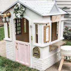 Kids Playhouse Makeover playhouse makeover, little tikes playhouse, kids diy project, makeover, pla Little Tikes Playhouse, Diy Playhouse, Playhouse Outdoor, Outdoor Play, Outdoor Living, Childrens Playhouse, Playhouse For Kids, Kids Plastic Playhouse, Painted Playhouse