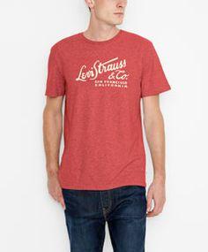 Levi's® Script Tee - Red Heather  - Levi's - levi.com