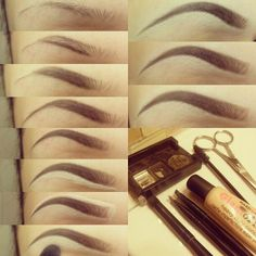 Maquillaje - makeup - For the eyebrows Perfect Eyebrows Tutorial, Eyebrow Tutorial, Perfect Brows, Eyebrow Makeup, Skin Makeup, Makeup Eyebrows, Eyebrow Tips, Eyebrow Wax, Eyebrow Products
