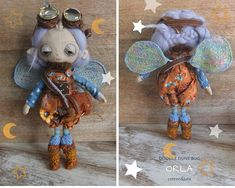 Orla a one of a kind little steampunk sand doodle dune bug Dee Day, Pixie Ears, Bug Art, Little Doodles, Creative Gifts, Dune, Puppets, Art Dolls, Kids Toys
