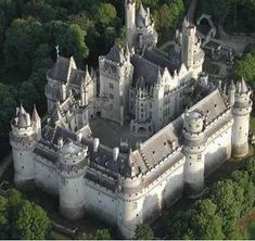 Pierrefonds Castle, built in 1393 by Louis d'Orleans, the second son of Charles V.