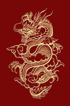 - Millions of photos, vectors, videos and music files for your creative inspiration and projects. tattoos Illustration of Traditional Golden Chinese Dragon. Chinese Dragon Drawing, Japanese Dragon Tattoos, Red Chinese Dragon, Cool Dragon Drawings, Dragons, Japon Illustration, Illustration Tattoo, Graphic Illustration, Red Wallpaper