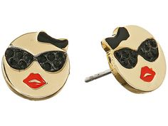 Kate Spade New York Tell All Sunglasses Emoji Studs Earrings Red/Multi - Zappos Couture