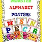 CLASSROOM MONSTER ALPHABET POSTERS FOR BACK TO SCHOOL. ...