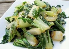 I just recently introduced Paul to Bok Choy. He had never even heard of it. I was really happy with his reaction. I thought this was delicious. This is a great side dish to a marinated flank steak and pairs well with a nice Riesling. Chinese Vegetables, Mixed Vegetables, Veggies, Cooking Vegetables, Vegetable Recipes, Vegetarian Recipes, Cooking Recipes, Healthy Recipes, Paleo Meals