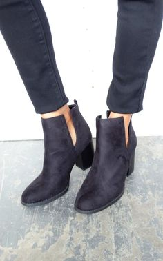 Comfy booties to wear everyday. Runs true to size slash a hair tight.