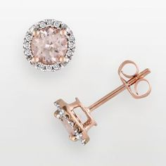 I love these. I want earrings and a ring and a necklace all in rose gold to match a watch. And the morganite gem is just fantastic.