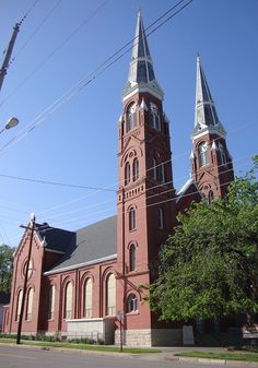 Located at the corner of SW and SW Van Buren in historic downtown Topeka, Kansas Topeka Kansas, Kansas Usa, Catholic Churches, Old Churches, St Joseph Catholic, American Catholic, America 2, Park Around, Church Architecture