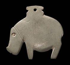 Hippopotamus palette  -    Egyptian, Predynastic Period, Naqada II, 3650–3300 B.C.