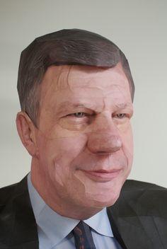 Paper portrait of Mr. Ivo Opstelten  (2009) by Bert Simons  Mayor of Rotterdam (1999-2009)
