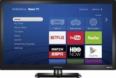 "Insignia 24"" Class LED 720p Smart Roku TV - $119.99! - http://www.pinchingyourpennies.com/insignia-24-class-led-720p-smart-roku-tv-119-99/ #Bestbuy, #Hdtv"