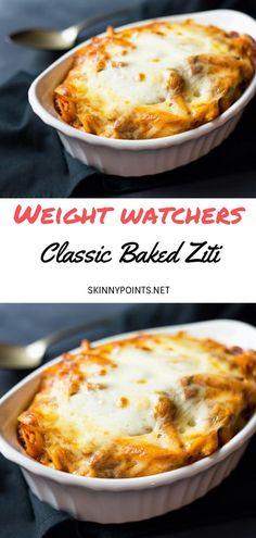 New weight watchers dinner recipes smartpoints ideas Weight Watchers Pasta, Weight Watchers Tips, Weigh Watchers, Weight Watcher Dinners, Skinny Recipes, Ww Recipes, Italian Recipes, Cooking Recipes, Baked Ziti Recipes