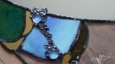 Stained glass, mirror, tiffany tech., detail, Seemoon