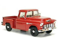 1955 CHEVY Truck Ertl 1:18 Scale DieCast Model Car 55 Chevrolet Red Pick Up