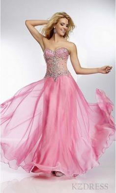Sexy Sweetheart Sleeveless Pink Floor Evening Dress kzdress13704