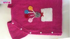 Tunus işi bebek yeleği yapımı - (yandan düğmeli modeli) İstek üzerine