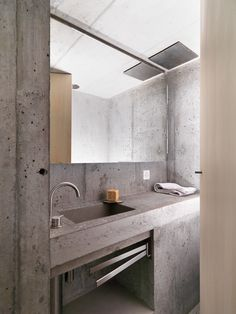 Modern bathroom inspiration bycocoon.com | raw concrete sink | bathroom design products | inox stainless steel bathroom taps & fittings | renovations | interior design | villa design | hotel design | Dutch Designer Brand COCOON