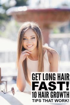 If you want to know how to make your hair grow faster, this collection of hair hacks is for you! From protein- and nutrient-rich hair masks to the inversion method for hair growth, these hair growth tips are your ticket to long, shiny, gorgeous locks! Help Hair Grow, Longer Hair Faster, How To Grow Your Hair Faster, Grow Long Hair, How To Make Hair, Longer Thicker Hair, New Hair Growth, Vitamins For Hair Growth, Hair Vitamins