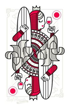 30 Vector Line Art Illustrations with Detailed Patterns & Geometric Shapes Surf Royale by Dario Genuardi Illustration Vector, Pattern Illustration, Character Illustration, Vector Art, Art Illustrations, Vexx Art, Op Art, Playing Cards Art, Geometric Lines