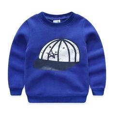 2018 spring and autumn child sweatshirt boys child hat print fleece pullover sports sweatshirts baby casual top //Price: $ //     #kids