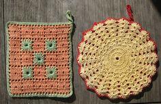 vintage crochet potholders ~ oakmom