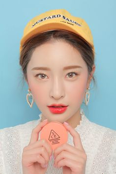 3CE BLUSH CUSHION #CORAL | STYLENANDA Asian Makeup Looks, Korean Eye Makeup, Korea Makeup, Cushion Makeup, 3ce Makeup, Blush Cushions, Full Coverage Makeup, Byun Jungha, Spring Makeup