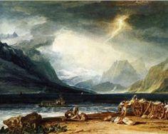 Le lac de Thoune, Suisse - William Turner-1805