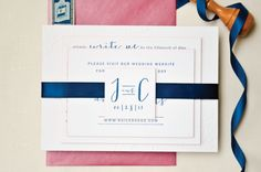 Jessica + Chris's Navy and Hot Pink Lace-Inspired Wedding Invitations | Sincerely, Jackie | Oh So Beautiful Paper