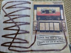 Guardians of the Galaxy cover this page in tape. Wreck this journal