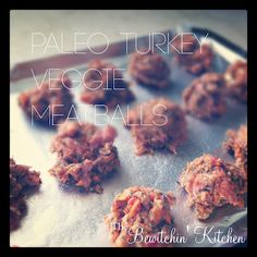 #Paleo Turkey Veg Meatballs. Gluten & dairy free, delicious and incredibly fast and easy to make. Perfect weeknight meal!