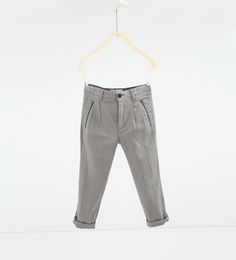 Image 2 of Textured weave chinos from Zara Zara, Khaki Pants, Trousers, Sweatpants, Boys, Clothes, Weave, Fashion, Kids Pants
