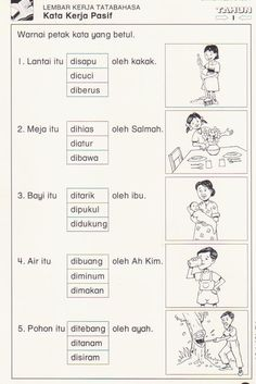 kata kerja Malay Language, Indonesian Language, Worksheets, Education, Epson, Grammar, Image, Google Search, Reading