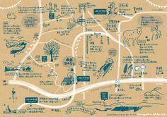 山岳マルシェでの完成地図 Map Design, Book Design, Layout Design, Graphic Design, App Map, Mental Map, Local Map, Information Design, Architecture Drawings