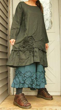 Rose Pintuck Tunic (Dress). $149.00, via Etsy.