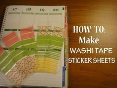 HOW TO: Make WASHI TAPE STICKER SHEETS For Your Erin Condren Life Planner - YouTube