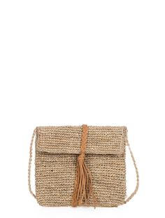 Scoop Mini Raffia Crossbody - Our Mini Raffia Crossbody bag is just big enough to carry what you need on the go for your next vacation or trip to the beach. Finished with a boho-feeling braided leather detail. Exclusively from Scoop NYC.