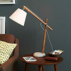 Adjustable Wood Task Lamp #westelm