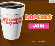 dunkin donuts DD Perks banner ad