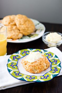 Chipotle Cheddar Biscuits - smoky biscuits smeared with honey butter make the perfect weekend breakfast.
