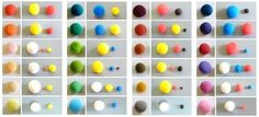 In what proportions to mix the clay to get the right color. Color Mixing Guide, Color Mixing Chart, Diy Clay, Clay Crafts, Cute Diy Room Decor, Frosting Colors, How To Make Clay, Clay Miniatures, Polymer Clay Charms