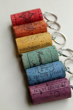 Idea for party favor - utilizes the wine corks you have and can match the super hero table themes.  Obviously give this along with something else perhaps.