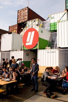Ciudad temporal de contenedores de O+A en Amsterdam.